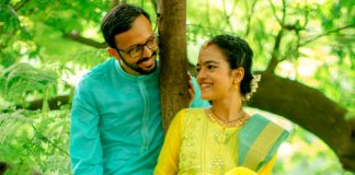 Deepa Prashin Green Wedding