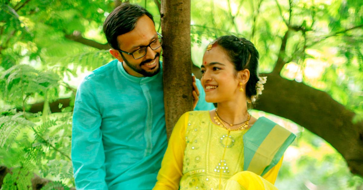 Deepa Prashin Green Wedding