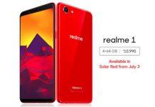Realme 1 Solar Red