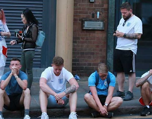 fans after england loss in world cup 2018