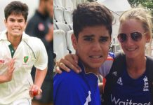 Arjun Tendulkar and Danielle Wyatt