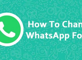 How to change WhatsApp fonts