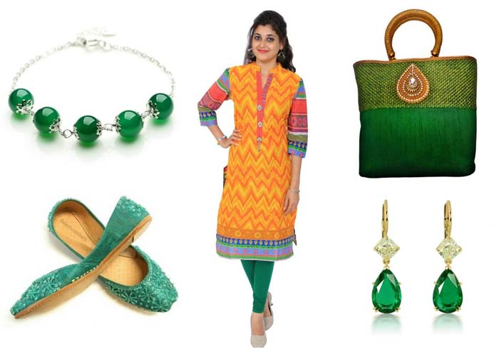 accesories with kurti