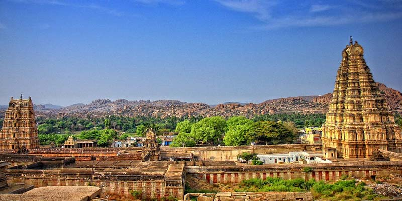 Ancient ruins at Hampi,