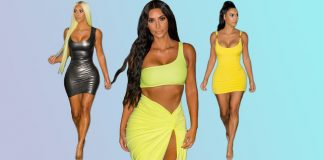 stylish outfits worn by Kim Kardashian