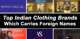 Top Indian Clothing Brands Which Carries Foreign Names