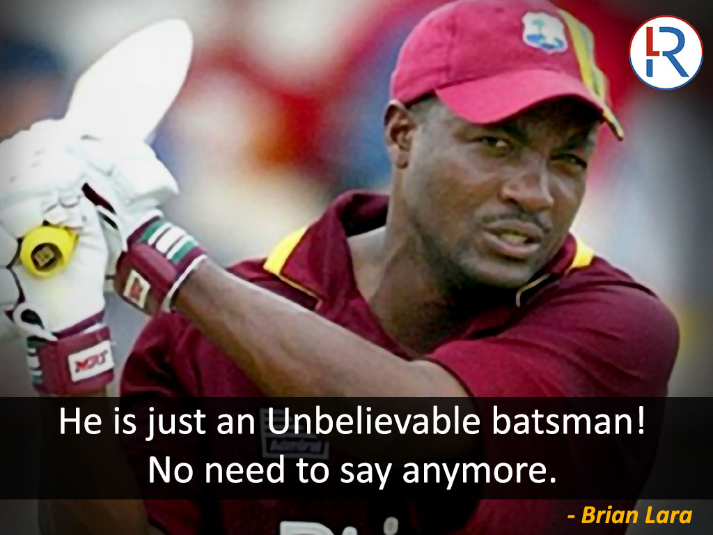 Brian Lara on Virat Kohli - RapidLeaks