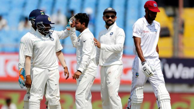 If you were someone in Kohli's victorious team at Rajkot, you may frankly have laughed seeing the West Indies. And maybe somewhere, you may have felt strange that why was the Test not made into an official 3-day game? If you were a West Indies supporter- a rare species that despite seeing the tumult their cricket is constantly undergoing, supports a unit that on most days seems a bunch of amateurs- you wished, why wasn't Rajkot a w-day affair? But the problem was, you weren't sure as to what was more laughable or problematic, depending on whose side you were on? Was it the sight of Sunil Ambris- two hit wickets on debut against New Zealand- dancing down the track to a wrist spinnerhe had no idea of playing with the scoreboard being 97-4 (only to be stumped) or was it the wild heave Hetmyer attempted a few deliveries back when he could've simply played a defensive stroke and not brought KL Rahul finally into some limelight? Usually, when teams are asked to follow-on, they take it head-on, as if a blow is made at their ego. Some show grit, others falter, but after trying. So the question confronting West Indies fans, for the team clearly doesn't seem interested in answering is- did the team try hard enough? In fact, did they seem interested in trying in the first place? How did the West Indies fail to show a spine- regardless of what theteam composition was- is something that not only highlights all that's wrong with their game. But, in fact, it cheats their fans, who at the behest of tournaments like the famous CPL, offer themselves a respite in the mindlessness of entertaining T20s from the punishing regimen of watching eleven men suffer in usual formats (these are formats that actually matter). Stupid is as stupid does, so said Tom Hanks' character in Forrest Gump. Just that, when you put shift the context from film to cricket, you realize, the West Indies stay true to a role that fetched Hanks worldwide stardom. Interestingly, it's earning the West Indies fame too