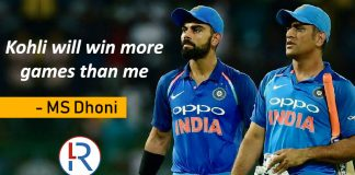 MS Dhoni on Virat Kohli
