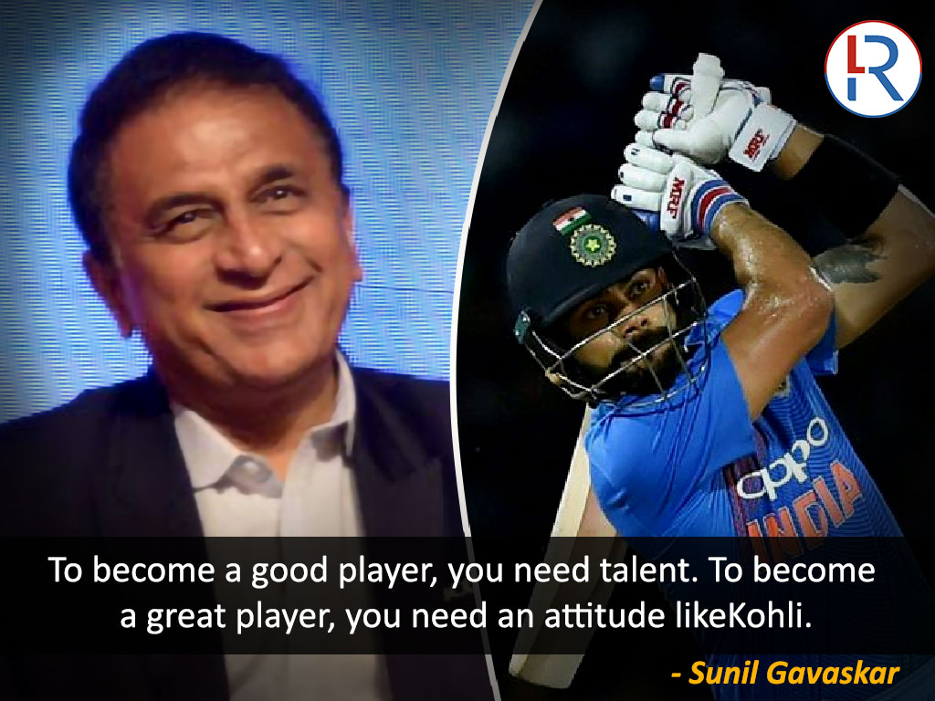 Sunil Gavaskar on Virat Kohli - RapidLeaks