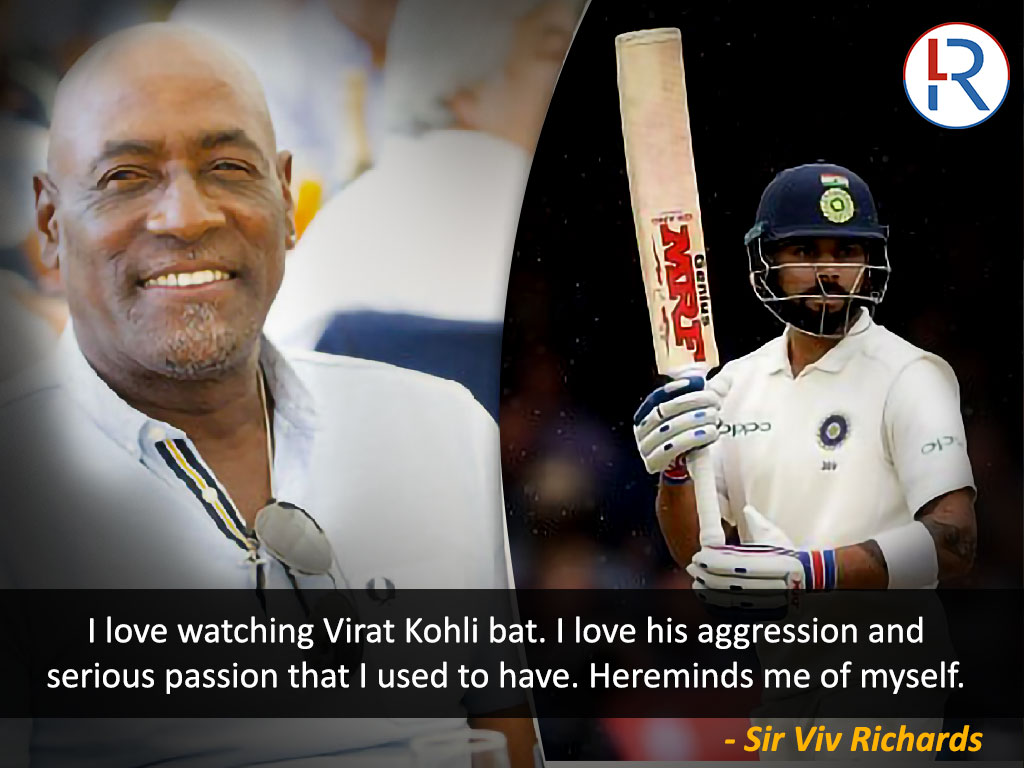 Viv Richards on Virat Kohli - RapidLeaks