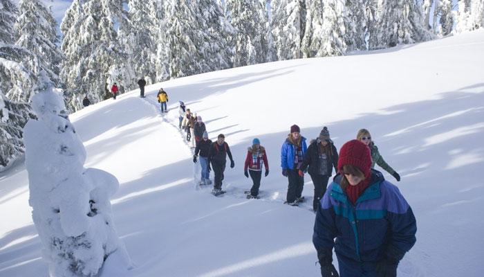 Snowshoeing in switzerland