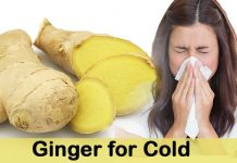 ginger for cold treatment