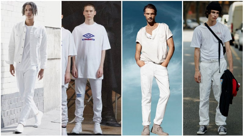All White Casual Look - all white outfits for men