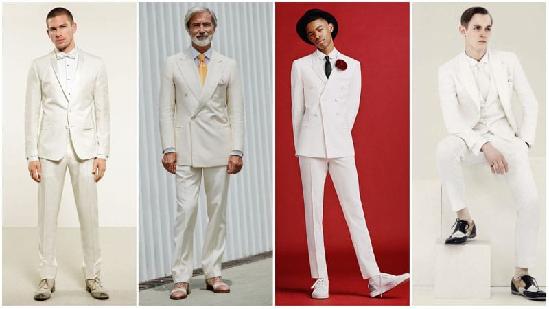 All White Formal Look -all white outfits for men