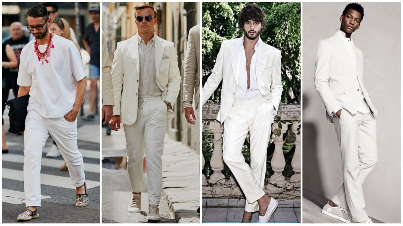 All White Party Outfits - all white outfits for men