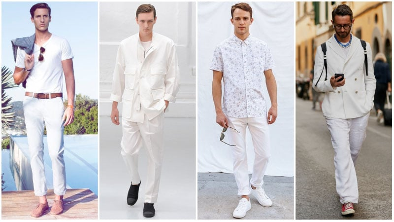 All White Smart Casual Look - all white outfits for men