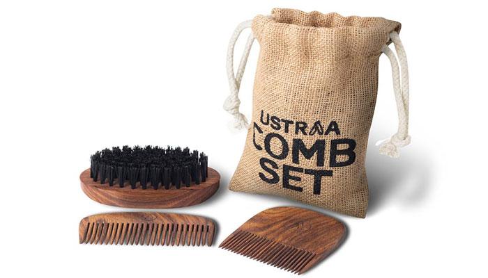 Beard Comb Set-face care gift for men