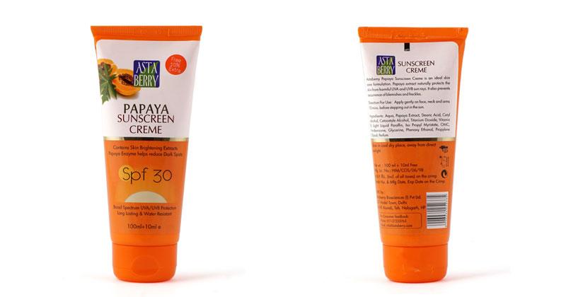 Papaya Sunscreen Crème