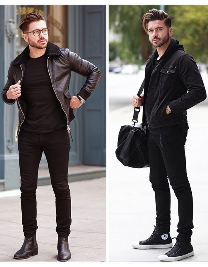 Black Party Look for Men - Black Mens Fashion