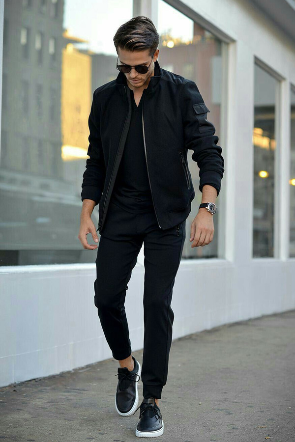 all black casual outfits -  Black Mens Fashion