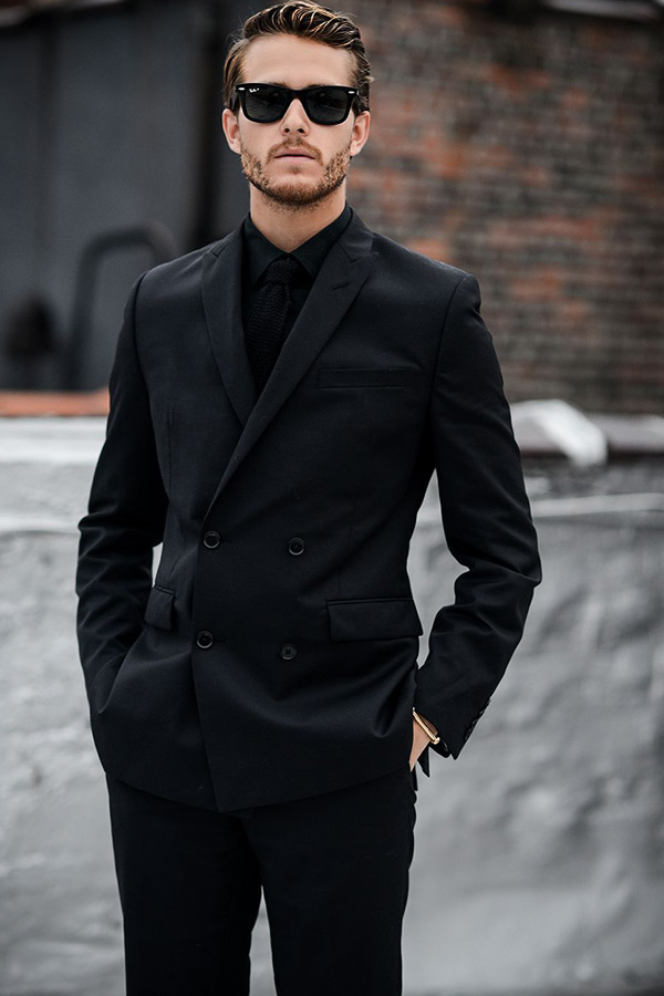 formal look - all black outfits for men - Black Mens Fashion
