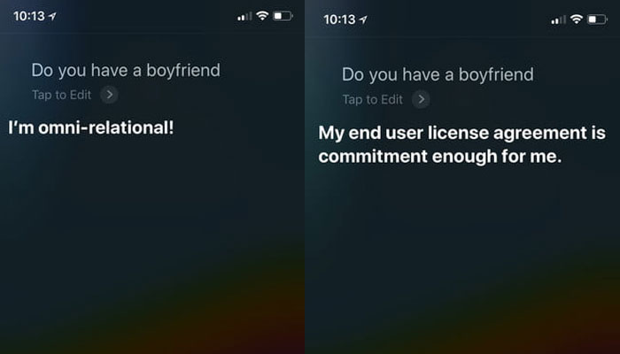Do you have a boyfriend Siri