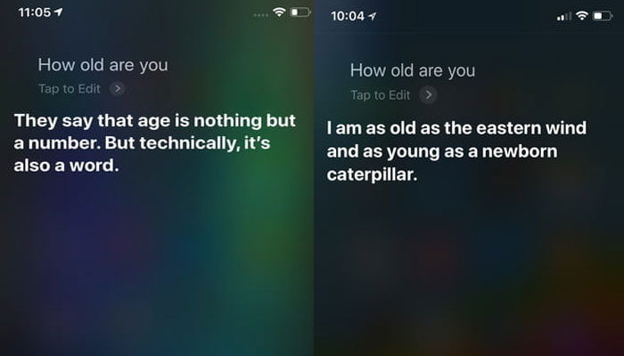 How old are you Siri