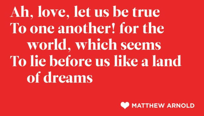 Matthew Arnold Poetry-Poetry Is Beautiful