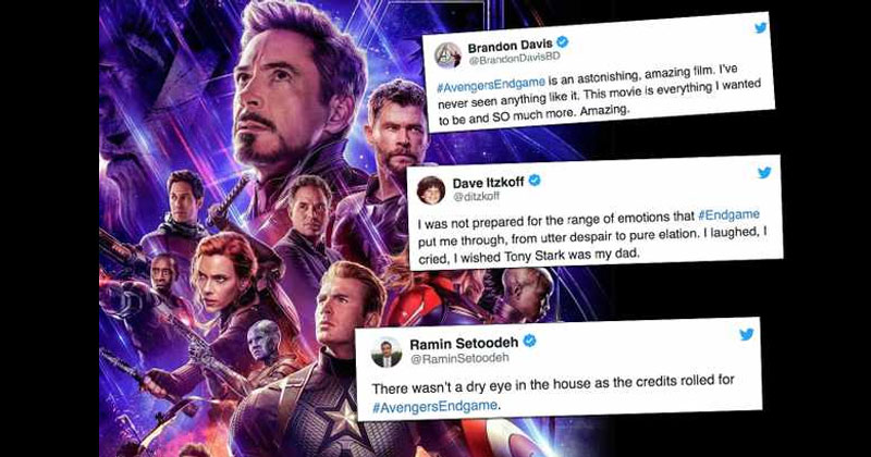 Twitter reactions To Avengers Endgame