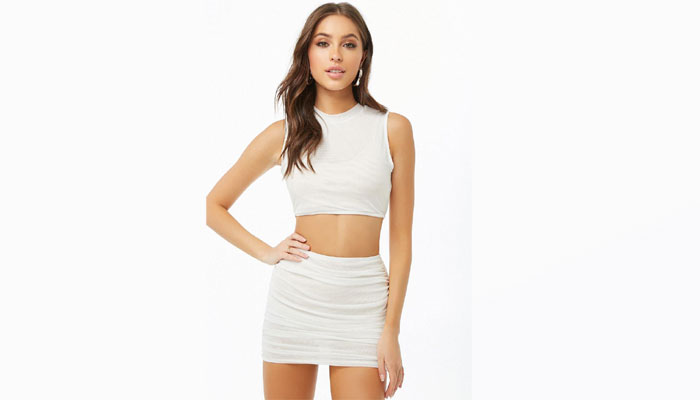 white comfy crop top