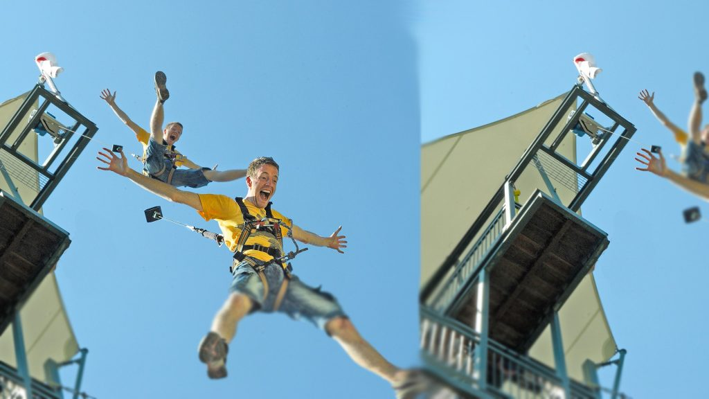 Freefall Jump at ParaJump at Sentosa