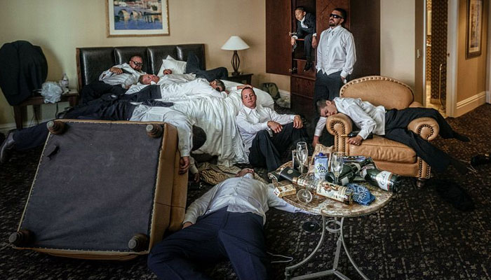 Hotel Room Hangover-bachelor party ideas