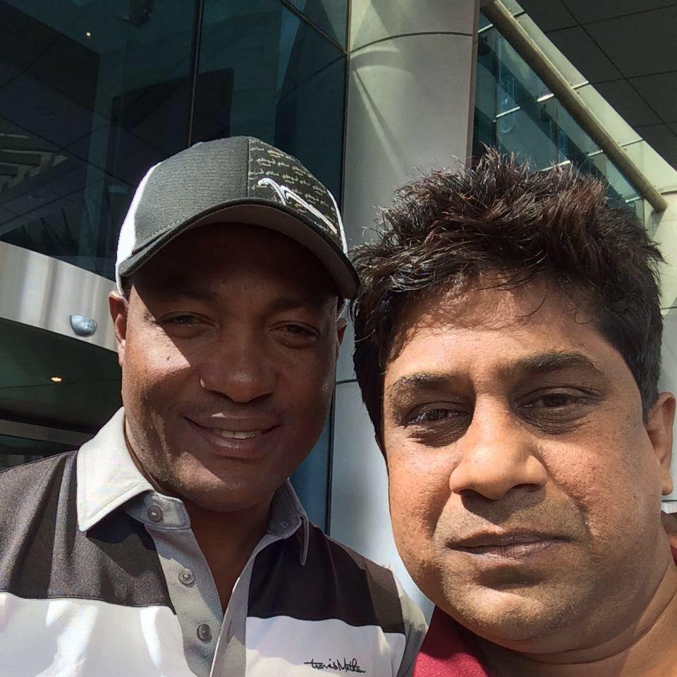 Prashant Kumar Banjare with Brian Lara