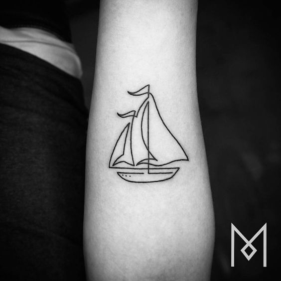 Single line tattoos