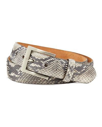 Snake skin printed belt