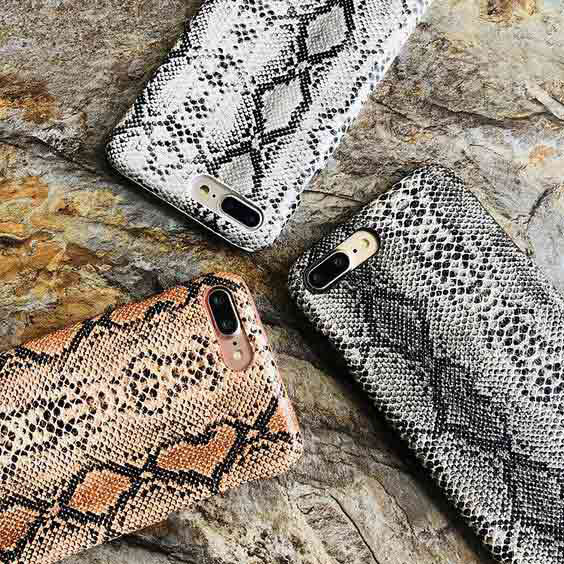 Snake skin printed phone covers