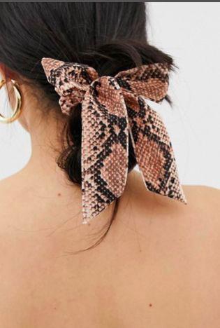 Snake skin printed scrunchie