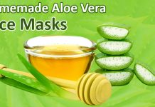 Homemade aloe vera face masks