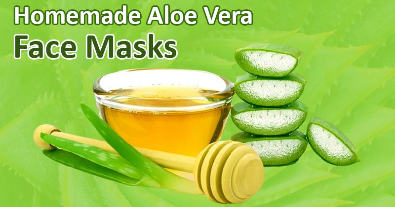 Homemade aloe vera face masks