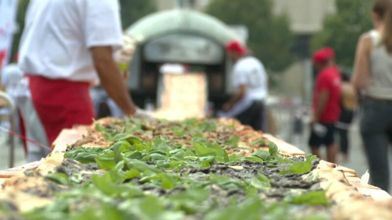 500 meter pizza