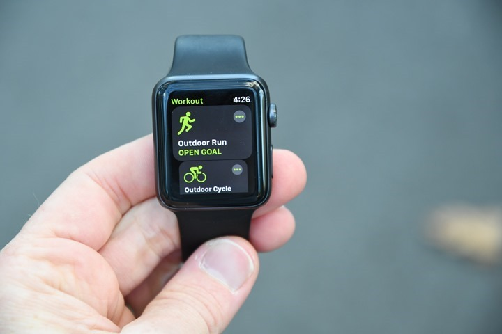 Apple watch series 4 sports mode