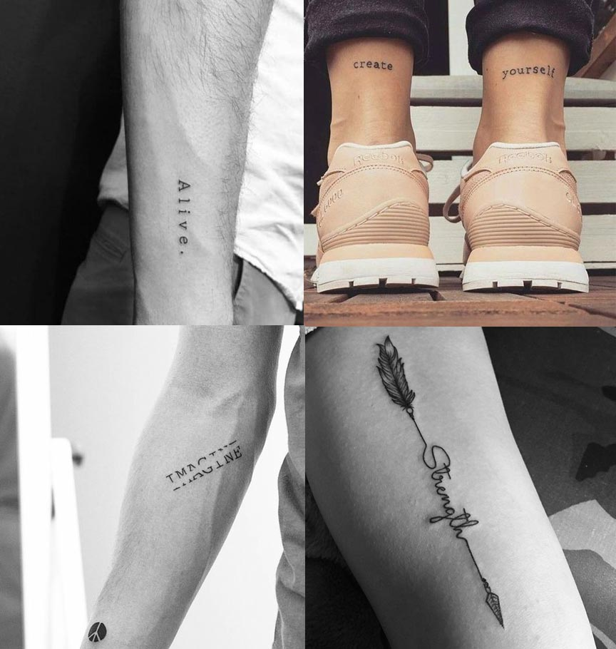 One-word tattoos