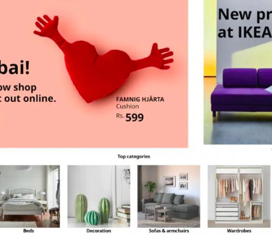 Ikea's online store in Mumbai