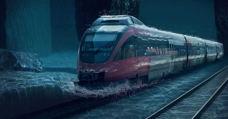 India's First Underwater Train