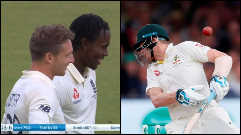 Jofra Archer smiling after Steve Smith injury inflames cricket fans