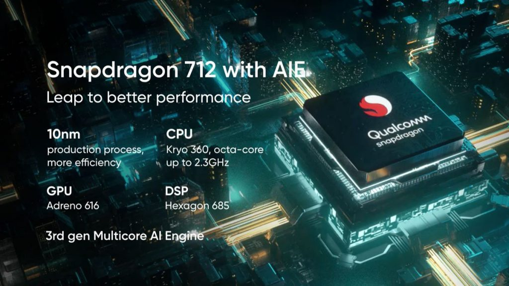 RealMe 5Pro Qualcomm Snapdragon 712 AIE processor