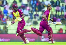 West Indies in T20s against India