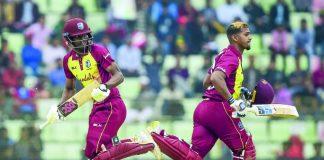 West Indies in T20s against India