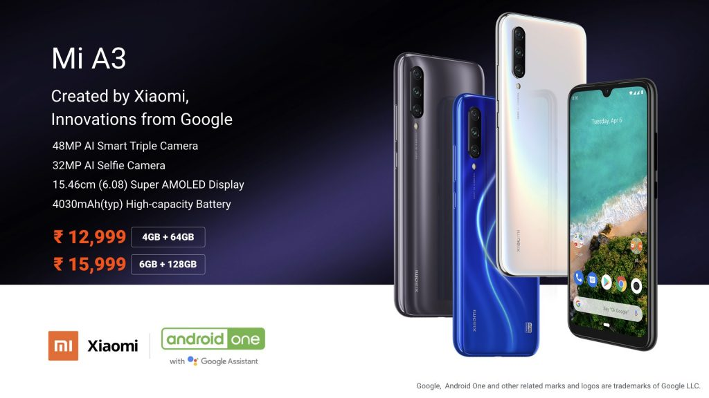 Xiaomi Mi A3 Specifications